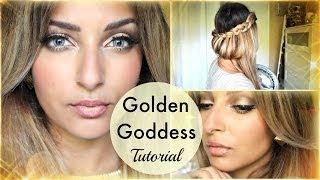 Golden Goddess ✰ Make Up doré yeux bleus (ou pas) + coiffure