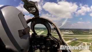 RideAlong! MiG-17 Fresco Cockpit Cam (Front View) - Rockford Airfest 2015