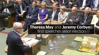 Parliament returns: Theresa May and Jeremy Corbyn make first speeches since election