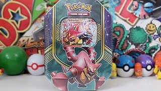 Opening A Pokemon Volcanion EX Tin!!