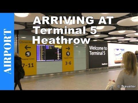 Arriving at London Heathrow Terminal 5 London Heathrow Airport in the United Kingdom