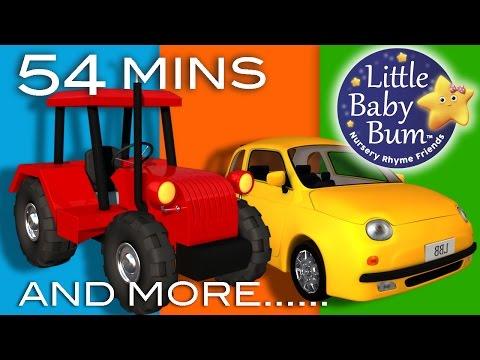 Vehicle Songs! | Buses, Cars, Trains, Boats Plus Lots More Nursery Rhymes | by LittleBabyBum!