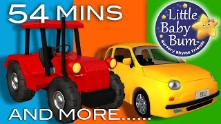 Vehicle Songs! | Buses, Cars, Trains, Boats Plus Lots More Nursery Rhymes | by LittleBabyBum!