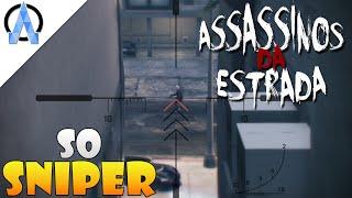 GTA V Online PS4 - Assassinos da Estrada #2 - Só na Sniper !