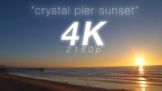 4K Coastal Sunset Timelapse Chillout Video ft Silk Music | Pacific Beach San Diego  5 Minute 60 FPS