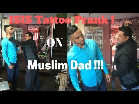 Xxx Mp4 ISIS Tattoo Prank On Muslim Dad 3gp Sex
