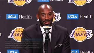 Kobe Bryant Jersey Retirement Press Conference