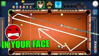 8 Ball Pool- MAX POWER BACK SPIN CHALLENGE- Rome Colosseum 5M [Hacker Destroyed]