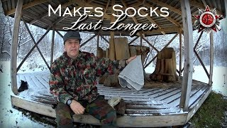 Cool Old-School: Footwraps For Laced Boots