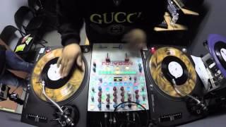 DJ Shortkut freestyle juggles DJ FLOW KINGSHT 7