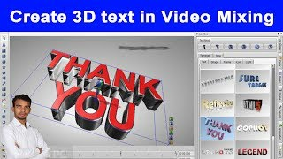 How to Edit 3D Animation text in Video Mixing Software Aurora 3D