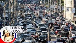 Moscow's Huge Morning Traffic Jam After Victory Day Celebration 2016 on Different Russia
