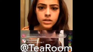 BHAD BHABIE AND MALU GO BACK AND FORTH ON IG LIVE!!!