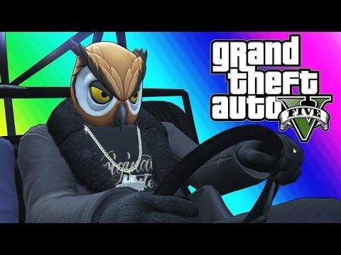 GTA 5 Online Funny Moments Epic Rocket Car Stunts