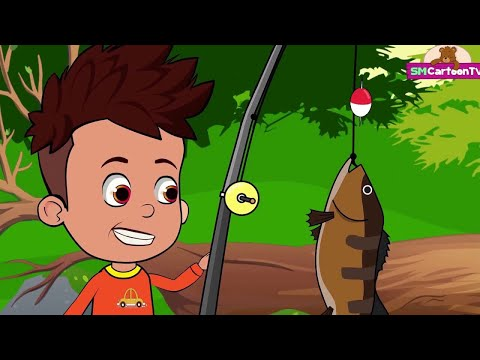 Jack go to Fishing Funny Cartoons Learning Video for Children, Nursery Rhymes Songs for Kids