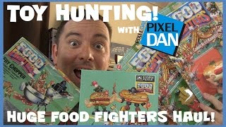 TOY HUNTING with Pixel Dan - Massive Food Fighters Figures and Collectibles Haul!