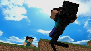 Herobrine Life Story Part 1: Herobrine And Steve - Minecraft Animation