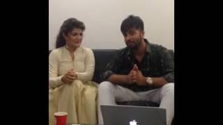 Shakib Khan and Srabonti Live on Facebook For SHIKARI MOVIE