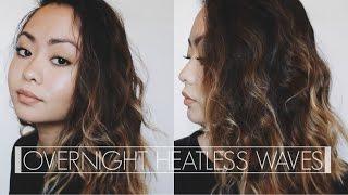 Overnight HEATLESS Wavy Hair!