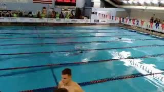 4 year old kid future Olympics swimmer in Speedo Fall Open 2016 Competition  50 Free Style