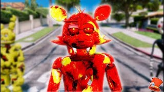 BRAND NEW LAVA FOXY ANIMATRONIC! (GTA 5 Mods For Kids FNAF RedHatter)