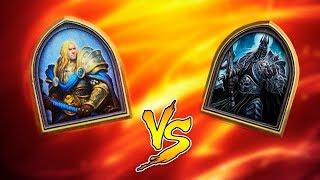 Хартстоун: Милл Артас против Короля Лича!