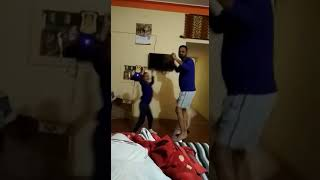 Funny dance with daughter on bhojpuri song