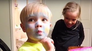 💄MAKEUP CHALLENGE! Girl does Little Brothers Makeup💋