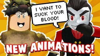 NEW ROBLOX ANIMATION PACKS! Vampire and Werewolf |  Animation Pack Showcase