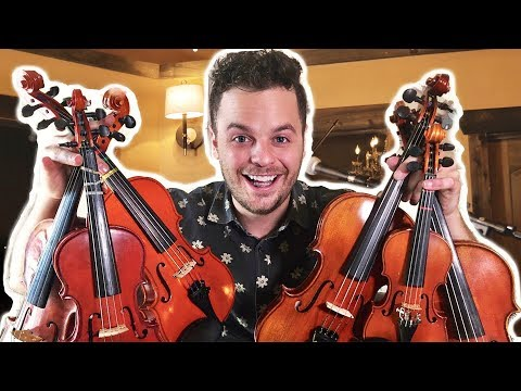 PLAYING ONE SONG ON 6 SMALL VIOLINS -
