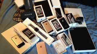 RICH FRIEND GIVES ME HUGE IPHONE, IPAD, IPOD, AND APPLE WATCH LOT!! ALL FOR FREE!