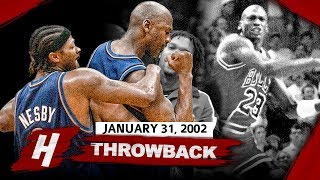 Michael Jordan BURIES Cleveland AGAIN! Full Highlights vs Cavaliers 2002.01.31 - 26 Pts, GAME-WINNER