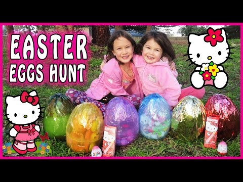 HELLO KITTY SURPRISE EGG HUNT Hello Kitty Toys, Hello Kitty Easter Eggs, Hello Kitty Egg Surprise