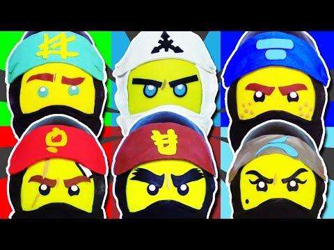 GIANT Lego Ninjago Movie PLAY DOH SURPRISE EGG COMPILATION Lloyd, Kai, Zane, Cole, Jay and Nya