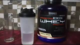 Ultimate Nutrition Prostar Whey Protein || Cookies And Cream || Review
