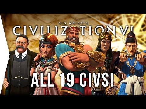Civilization VI ► ALL 19 Civilizations - Overview & Strategies in Civ 6!