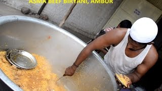 Indian Muslim BEEF BIRYANI Prepared AMBUR Style for 200 People & STREET FOOD