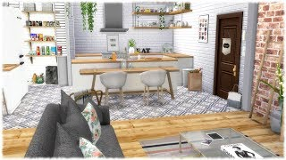 The Sims 4: Speed Build // ROOMMATE APARTMENT + CC LINKS