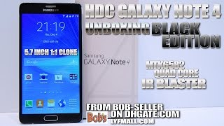 HDC Galaxy Note 4 Black [UNBOXING] 5.7