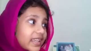 বার্মার মুসলমানদের জন্য মহান রাব্বুল অালামিনের দরবারে শিশু সোহরামনি'র প্রার্থনা