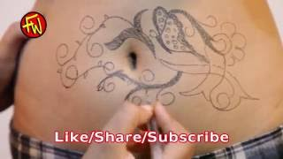 My Finished Stomach Tattoo - hot navel shows