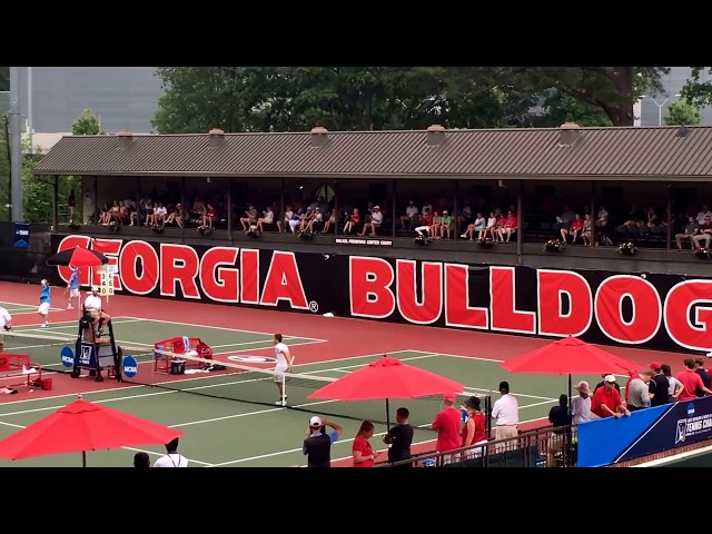North Carolina vs. Georgia - Singles - 2017 NCAA Semifinals