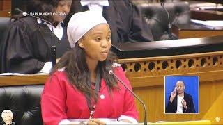 Maiden Speech Of New EFF MP Yoliswa Yako In Parliament