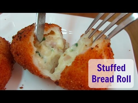 Stuffed Cheese & Egg Bread Roll | Naf's Kitchen