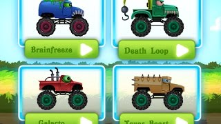 "Monster Trucks Action Race ""Beast Car Valley"" Videos Games for Children /Android HD"