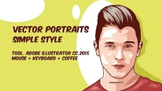 Vector Portraits 3 Layer - Illustrator Tutorials
