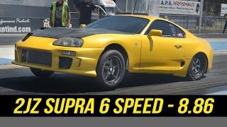 Toyota 2JZ Supra 6spd manual runs 8.86