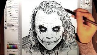 Drawing a Heath Ledger JOKER with Clip Studio Paint (Manga Studio)