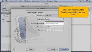 Configure your Apple Mail with A.M.A.R Hosting Shared Web and Email POP3 Email Account