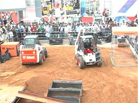 Bobcat S130 Demonstration at EXCON 2011 Exhibition Bangalore